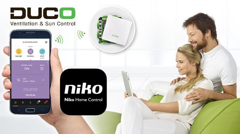 niko home control voor zonwering duco